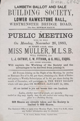 Advert For A Meeting Of The Lambeth Ballot & Sale Building Society